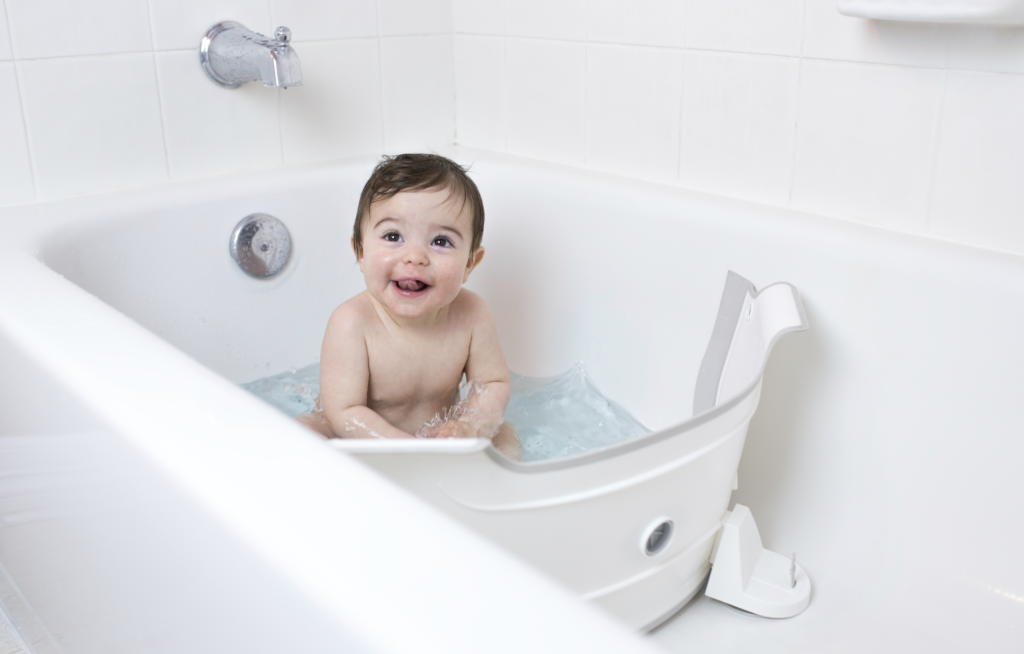 how to manage bath time with twins