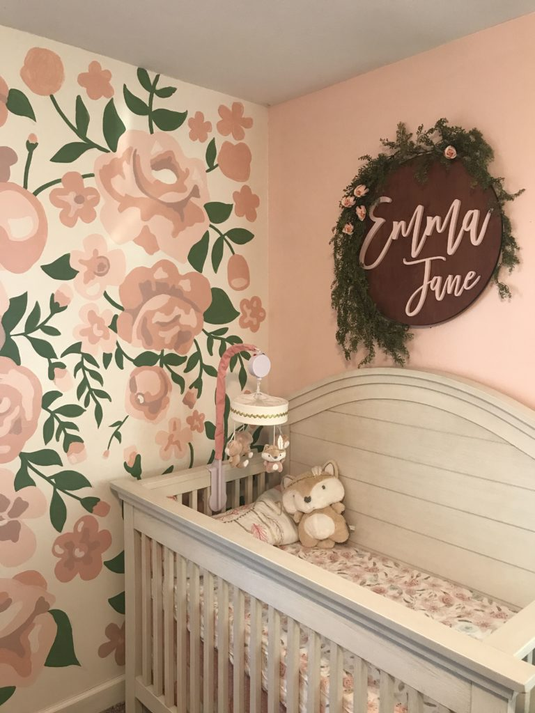 pastel colours nursery theme