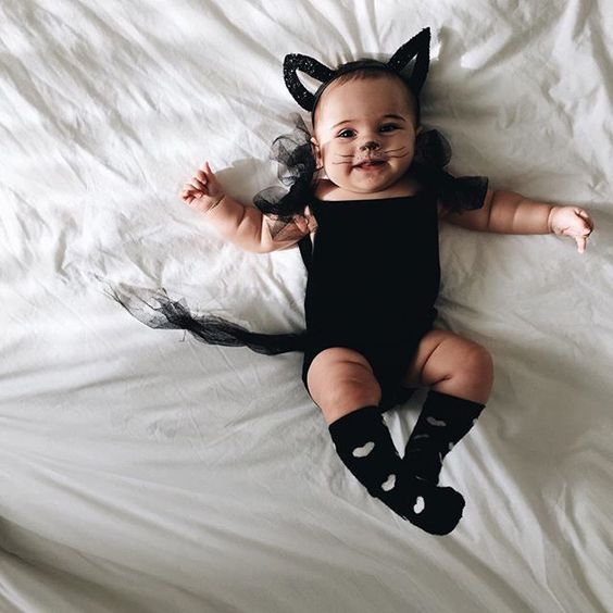 baby halloween cat outfit