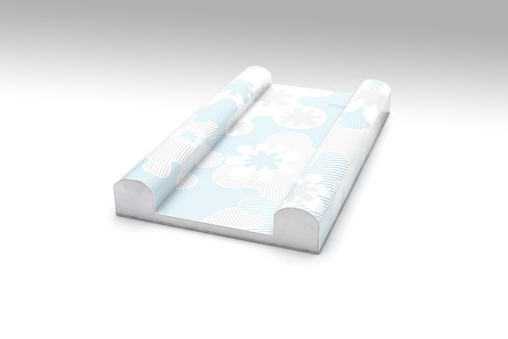 babydam supersnug baby changing mat blue