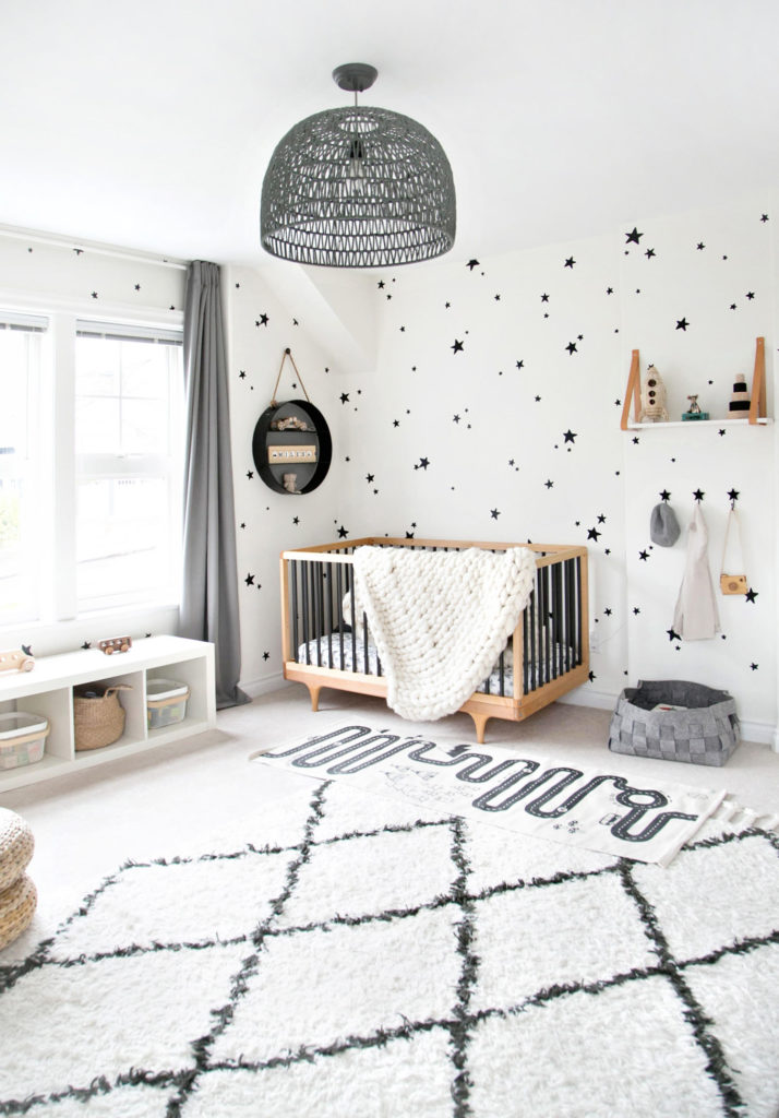 monochrome nursery theme