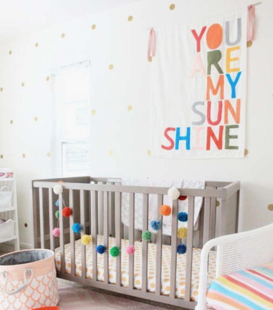 colourful nursery theme