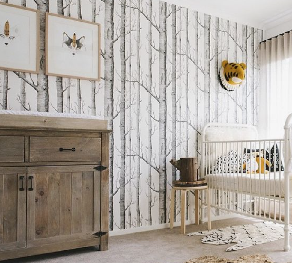 rustic woodland nursery theme