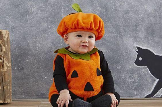 baby halloween pumpkin outfit