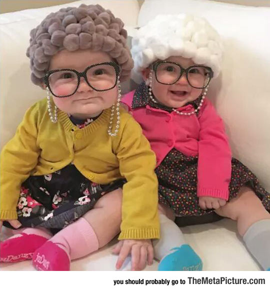 halloween baby granny outfit